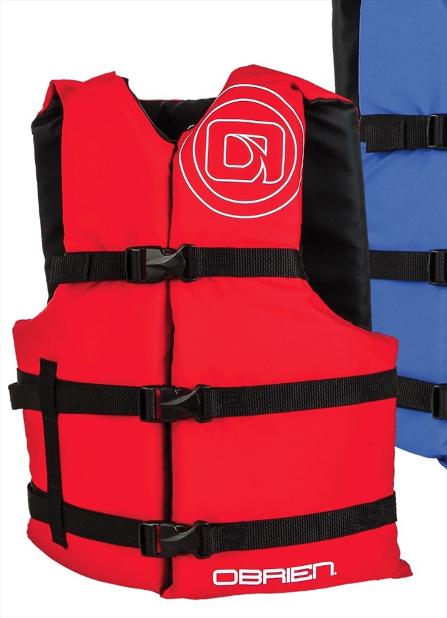 O'Brien Universal Watersports Vest Buoyancy Aid 4 Pack, One Size Red