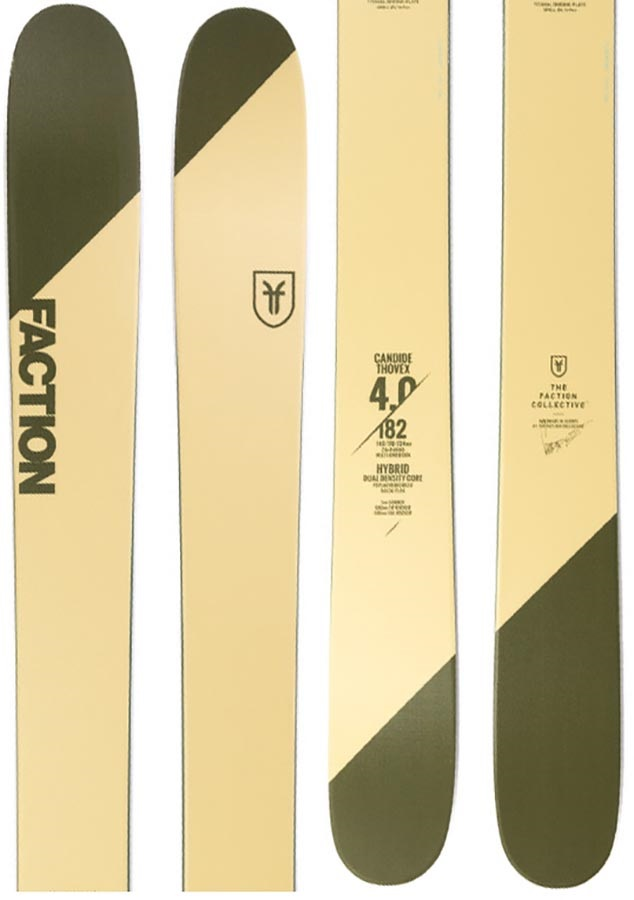 Faction Candide CT 4.0 Ski Only Skis, 182 Green/Beige 2019