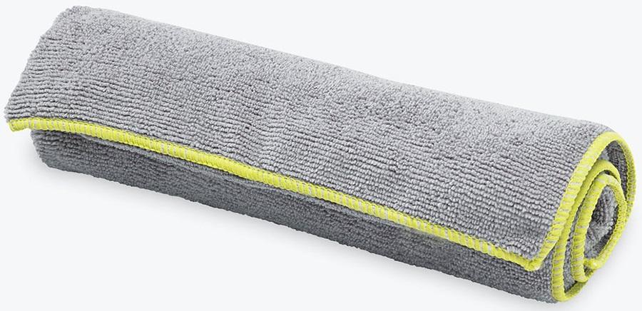 Gaiam Yoga Hand Towel, Storm/Citron