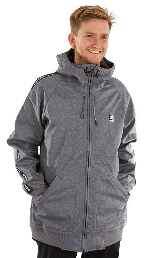 DC Spectrum Ski/Snowboard Softshell Jacket, M Neutral Grey Heather