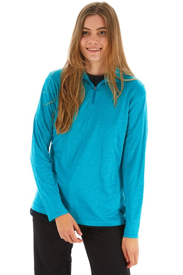 Mountain Hardwear Wicked Long Sleeve Women's Zip T-Shirt, XS Sea Level