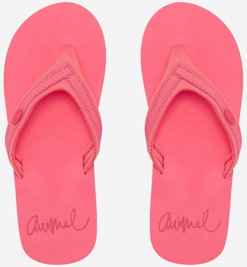 Animal Swish Slim Block Women's Flip Flops, UK 6 Calypso Coral Red
