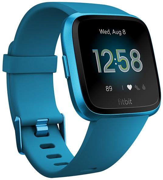 FitBit Versa Lite Heart Rate & Fitness Smartwatch, Blue/Aluminium