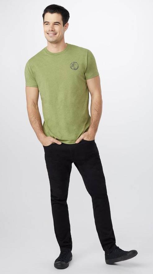 Tentree Global Prospect Men's Short Sleeve T-Shirt, L Mosstone Green