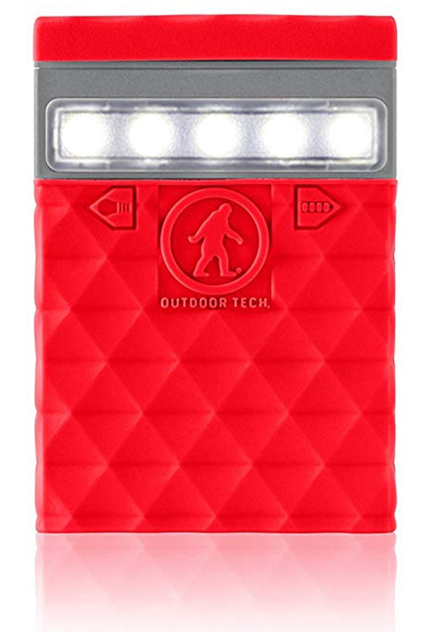 Outdoor Tech Kodiak Mini 2.0 Portable Battery Pack & Charger, Red