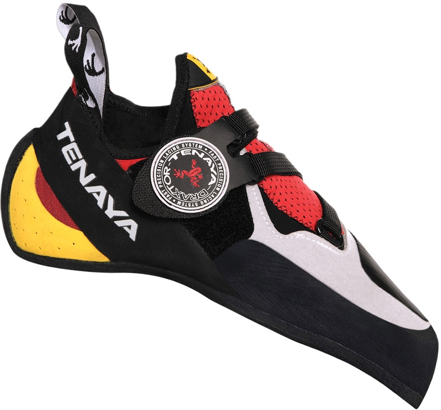 Tenaya Iati Rock Climbing Shoe: UK 8 | EU 42, Red/Grey/Yellow