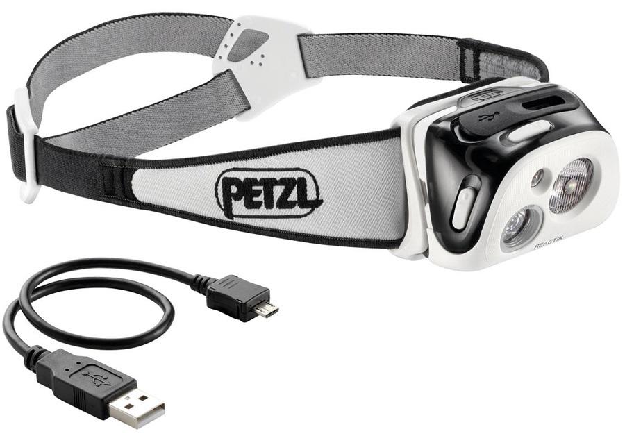 Petzl Reactik Compact Rechargeable Headtorch 220 Lumens Black