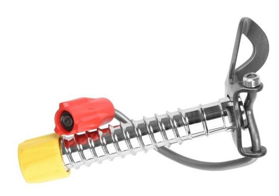 Grivel 360 Ice Screw Easy Rack Climbing Ice Screw, S, Red