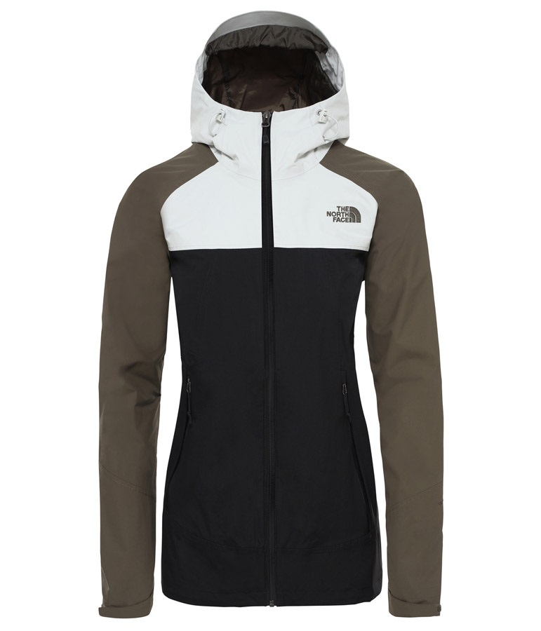 e8791d664 The North Face Stratos Women's Waterproof Jacket, M Black/Green