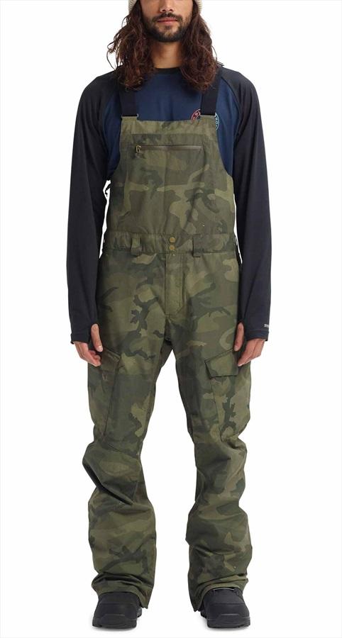 Burton Reserve Bib Ski/Snowboard Pants Trousers, M Worn Camo