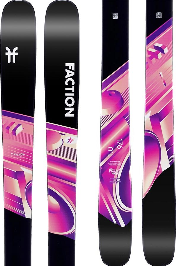 Faction Adult Unisex Prodigy 1.0 Ski Only Skis, 170cm Black/Pink 2020