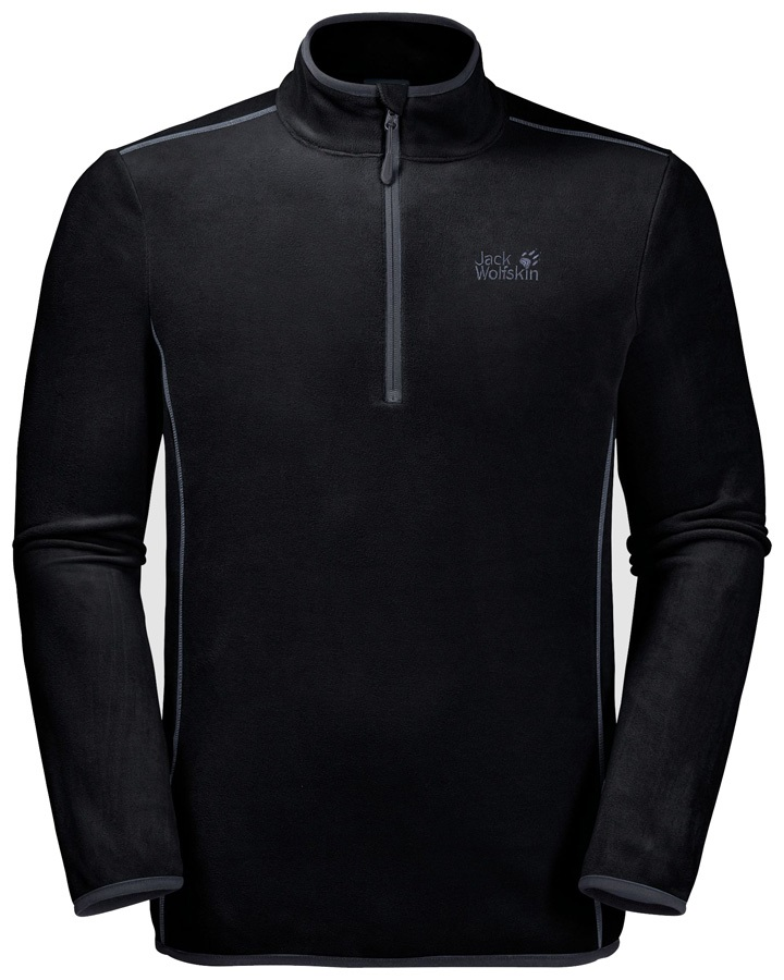Jack Wolfskin Adult Unisex Echo Men Fleece Jumper: XL, Black