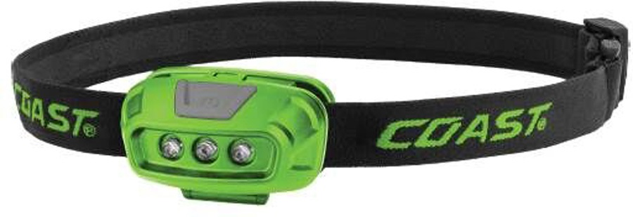 Coast FL14 Headtorch IPX4 LED With Red Light, 37 Lumens Green
