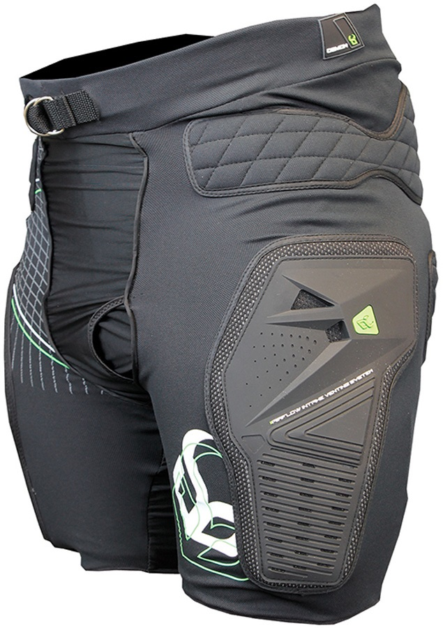 Demon Shield Ski/Snowboard Impact Shorts S Black