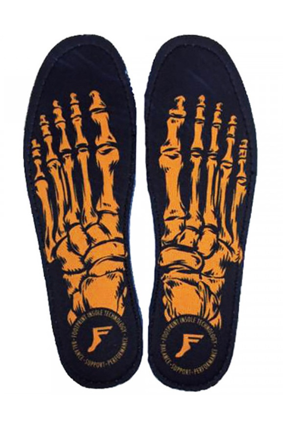 Footprint Skeleton Gold Game Changers Insoles, UK 5-5.5 Black/Gold