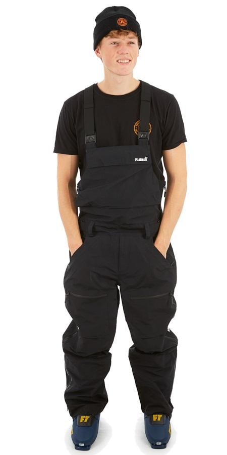 Planks Yeti Hunter Bib 3L Ski/Snowboard Pants, L Black