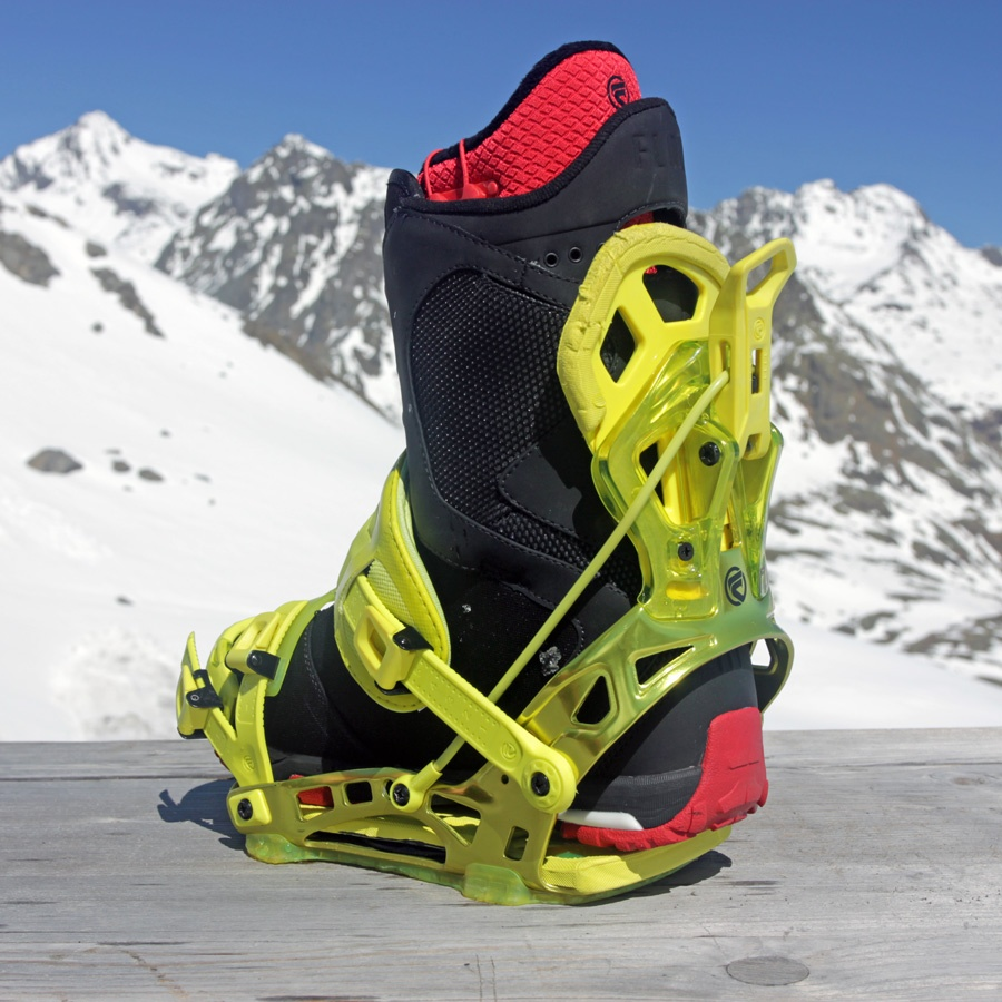 Flow NX2 SE Snowboard Bindings, XL, Neon Lime, 2014