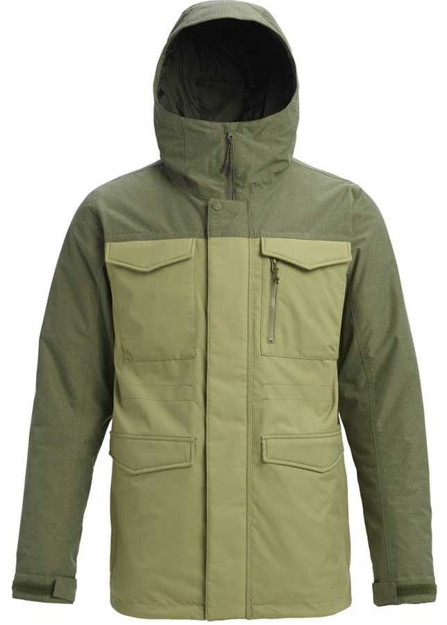Burton Covert Snowboard/Ski Jacket, S Mosstone/Clover