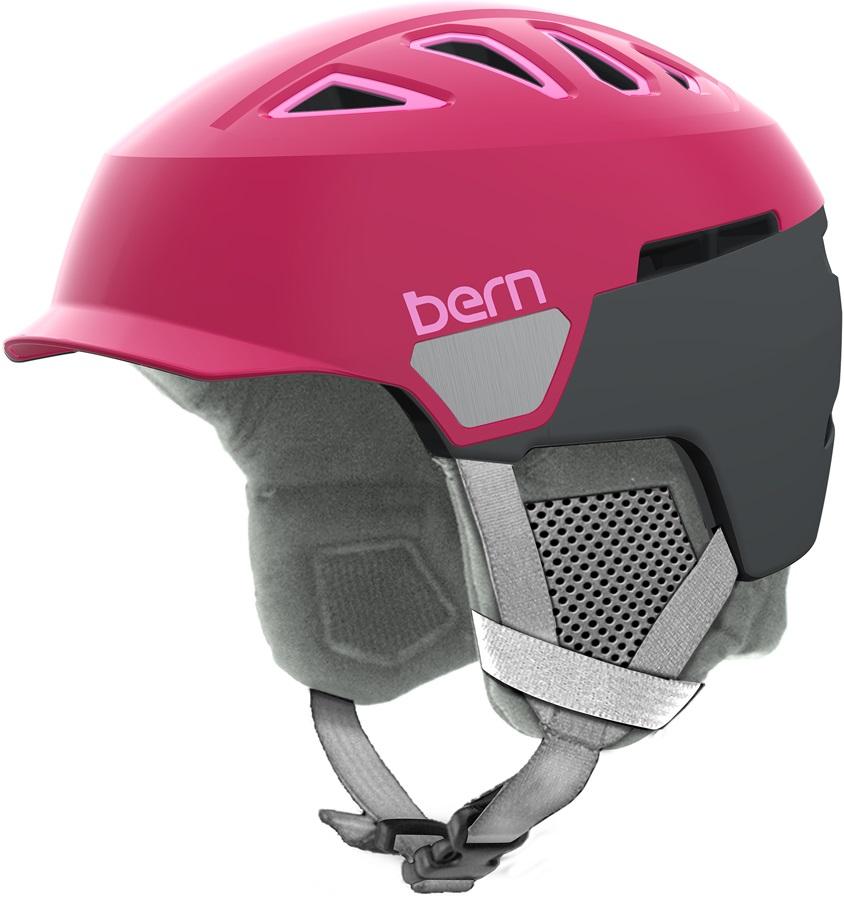 Bern Womens Heist Brim Women's Snowboard Helmet, S Satin Raspberry
