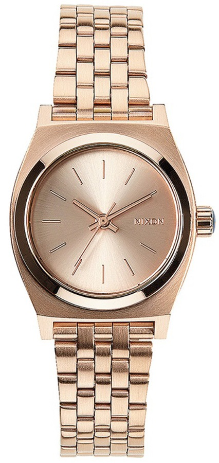Nixon Small Time Teller Women's Watch, One Size, All Rose Gold