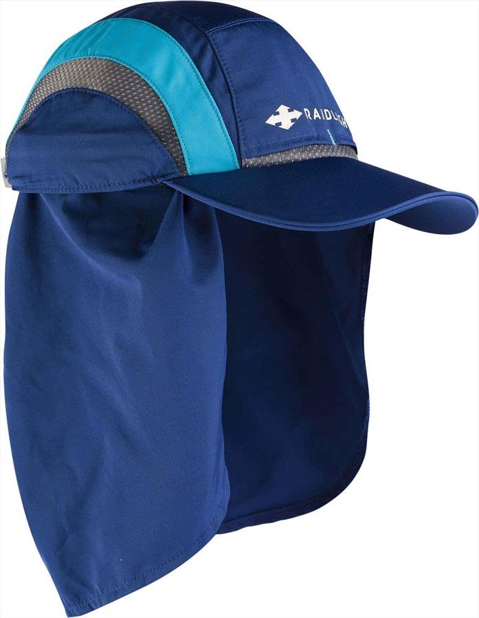 Raidlight Sahara Cap With Neck And UV Protection, Dark Blue/Blue