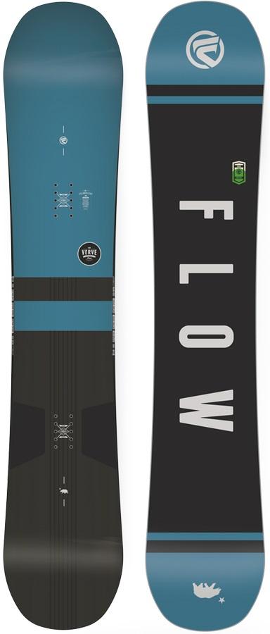Flow Verve Reverse Camber Snowboard, 158cm Wide 2018