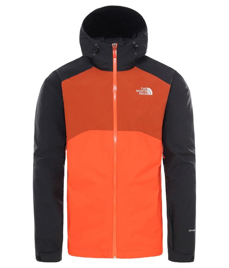 6092ce6ab The North Face Stratos Jacket Men's Waterproof Rain Shell, L Orange