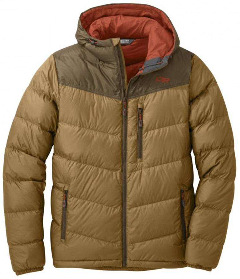 Outdoor Research Transcendent Down Hoody Insulated Jacket, S Ochre