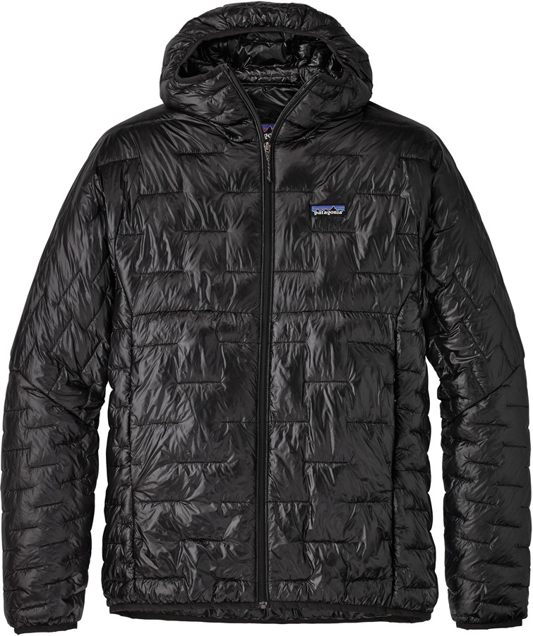 Patagonia Micro Puff Hoody Insulated Jacket, S Black
