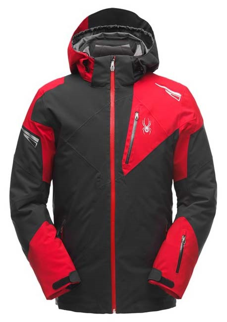 Spyder Leader Ski Jacket, S Black/Red
