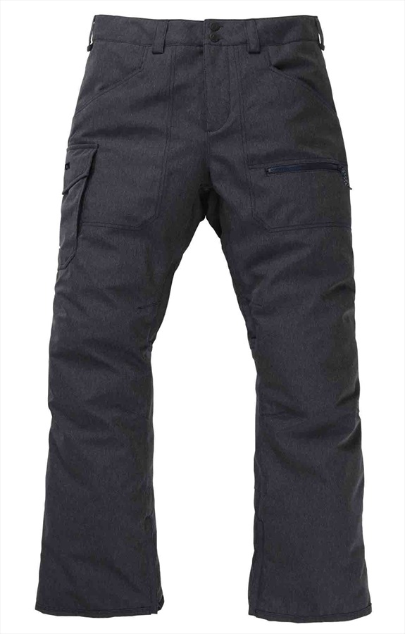 Burton Covert Insulated Snowboard/Ski Pants Trousers, L Denim