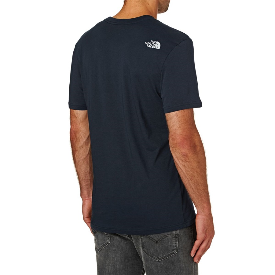 3891b5f64 The North Face Short Sleeve Easy Tee Men's T-shirt L Navy/TNF White