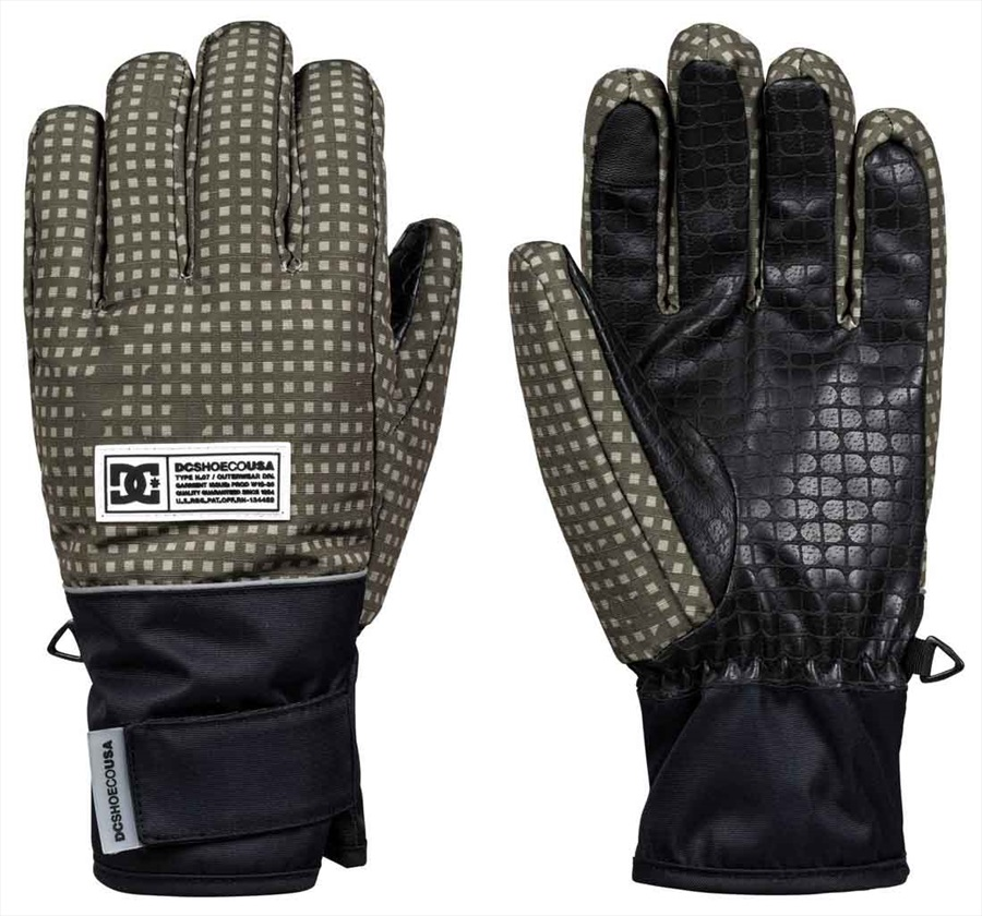 DC Franchise Ski/Snowboard Gloves, L Olive Desert Night Camo