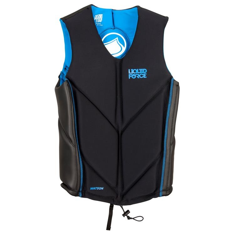Liquid Force Watson Wakeboard Impact Vest, Small Black Blue