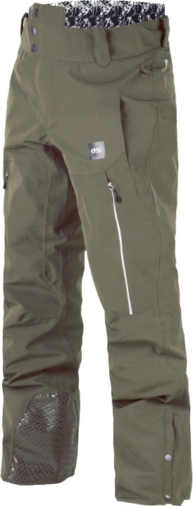 Picture Object Ski/Snowboard Pants, S Dark Army Green