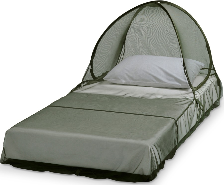 Care Plus Pop Up Dome Impregnated Mosquito Net, 1 Person Grey