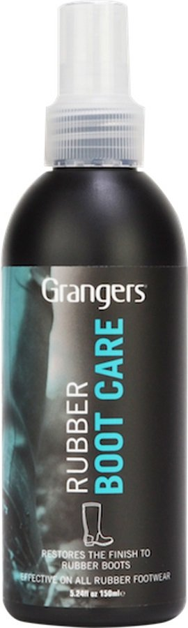 Grangers Rubber Boot Care Outdoor Footwear Cleaner, 150ml Black/Blue