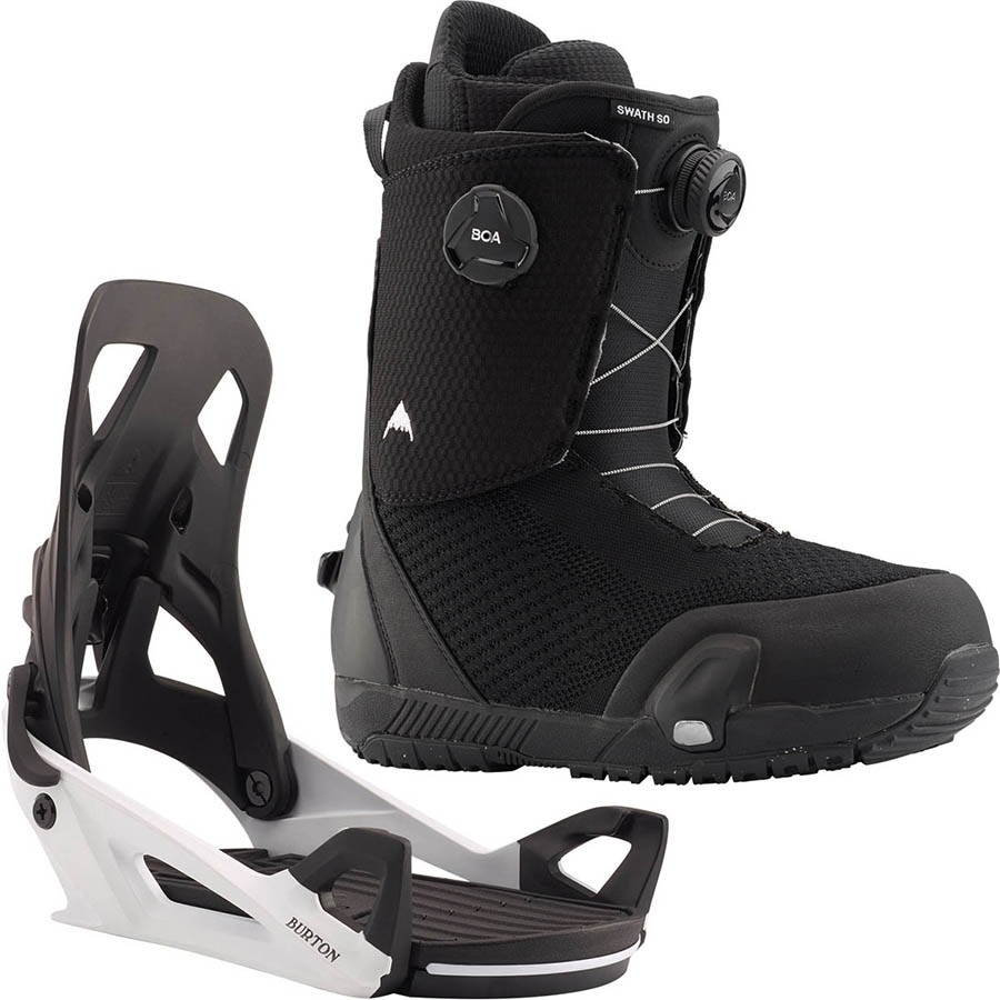 Burton Swath Boa Step On Snowboard Binding & Boots, UK 8