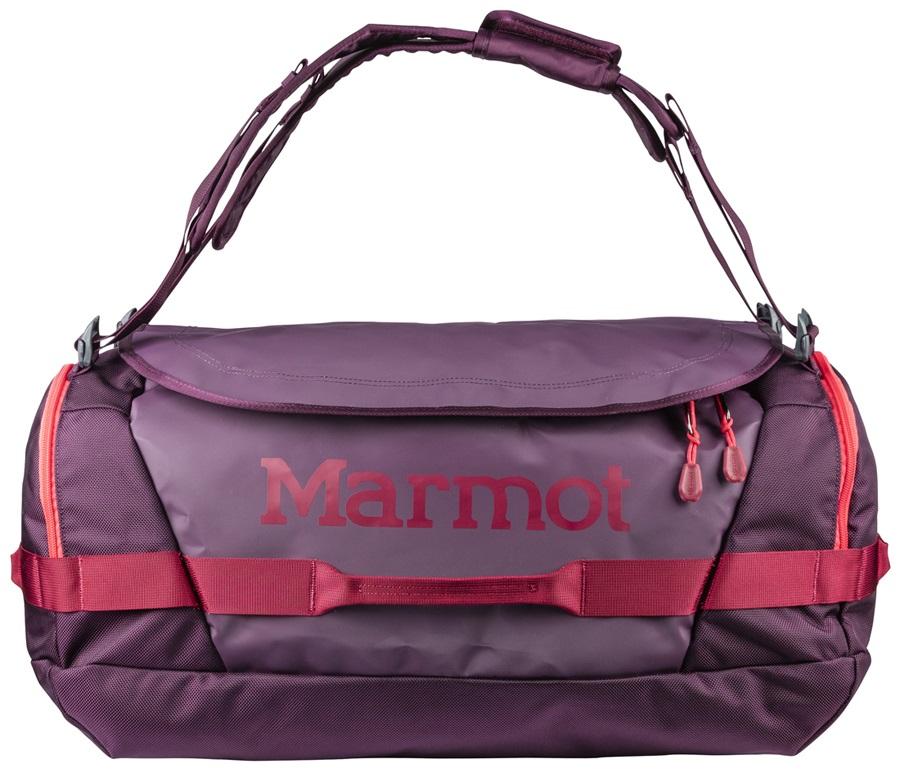 Marmot Long Hauler Duffel Travel Bag, 50L Dark Purple/Brick