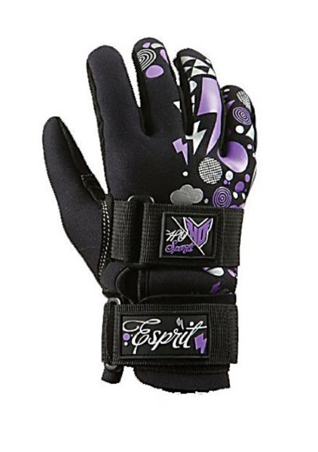 HO Sports Espirit Ladies' Waterski Gloves, Small Bl Purple