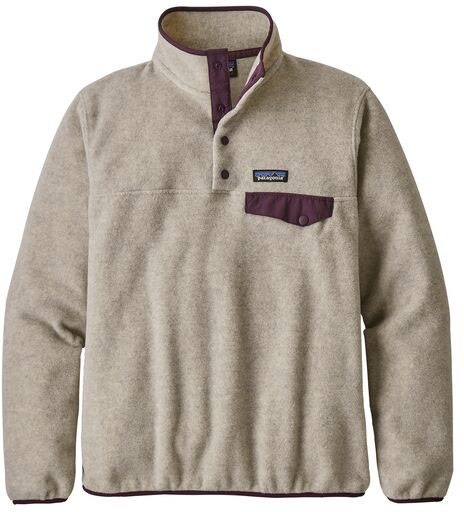 Patagonia LW Synchilla Snap-T Women's Pullover, M Oatmeal Heather
