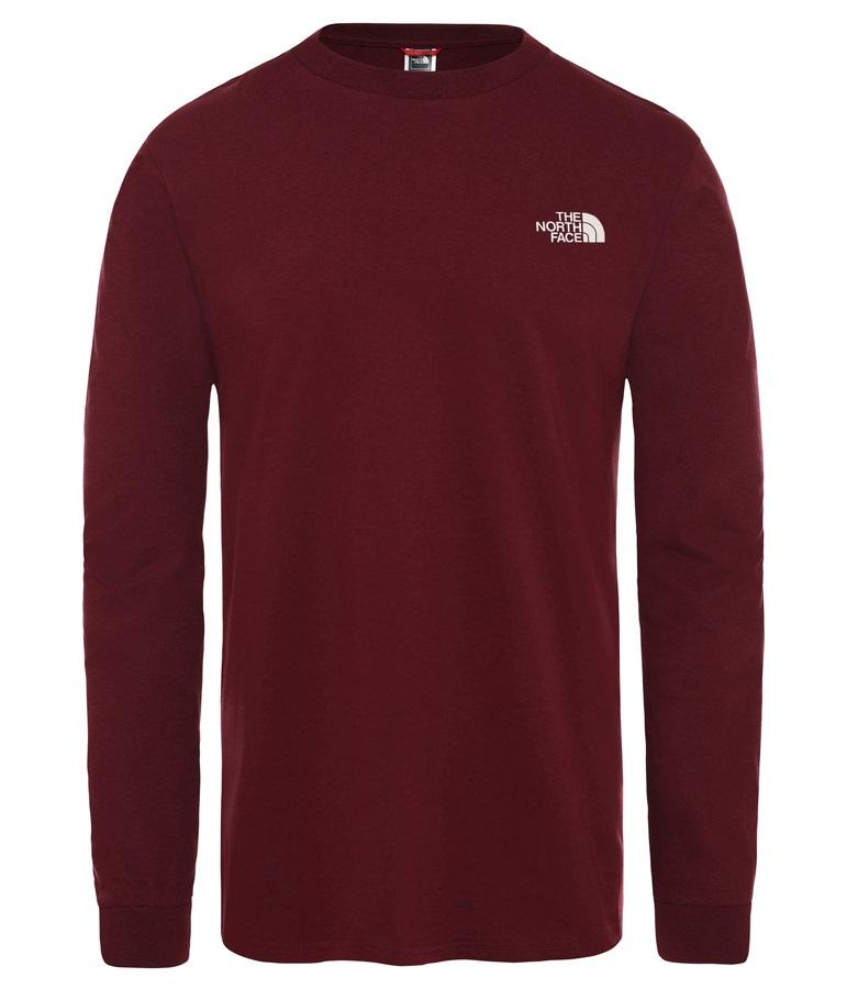 cf779f852 The North Face Simple Dome Tee Long Sleeve T-Shirt, XL Deep Garnet Red