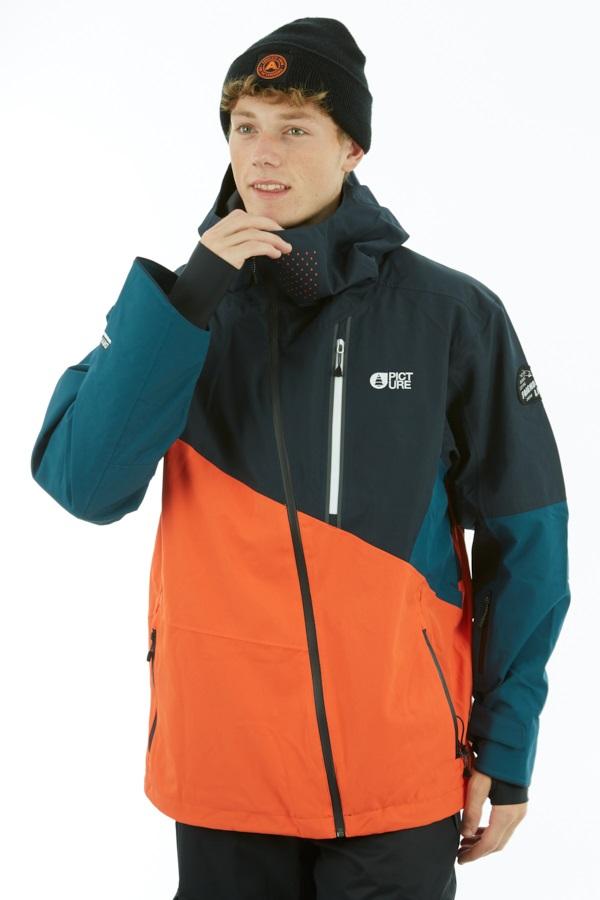 Picture Alpin Ski/Snowboard Jacket, XL Orange Dark Blue