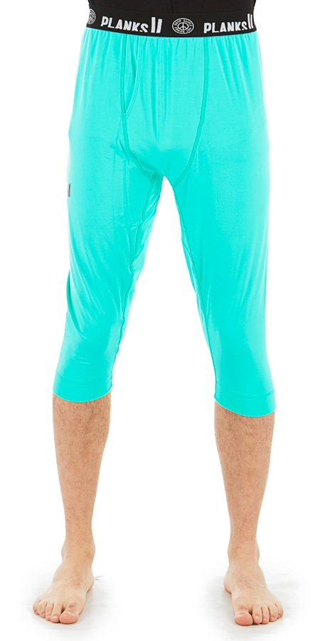 Planks Fall-Line Base Layer 3/4 Leg Thermal Bottoms, M Teal