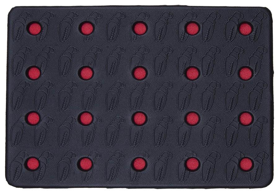 Crab Grab Holey Sheet Snowboard Stomp Pad, Black/Red
