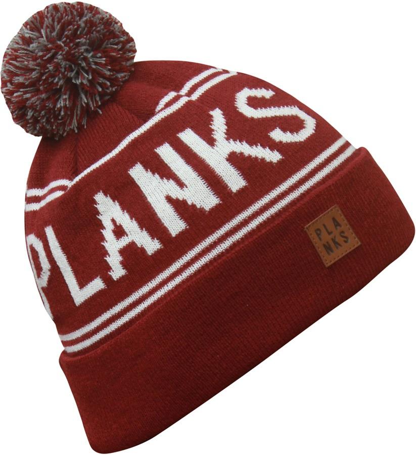 Planks Classic Snowboard/Ski Bobble Hat, Maroon