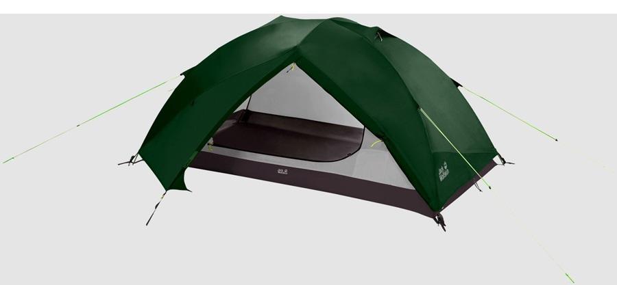 Jack Wolfskin Skyrocket II Camping & Backpacking Tent, 2 Man Green