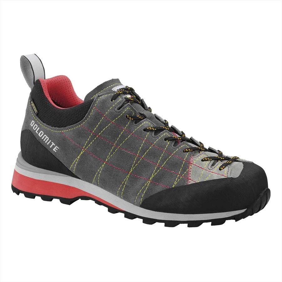 Dolomite Diagonal GTX Gore-Tex Approach Shoe, UK 12 Grey/Hibiscus