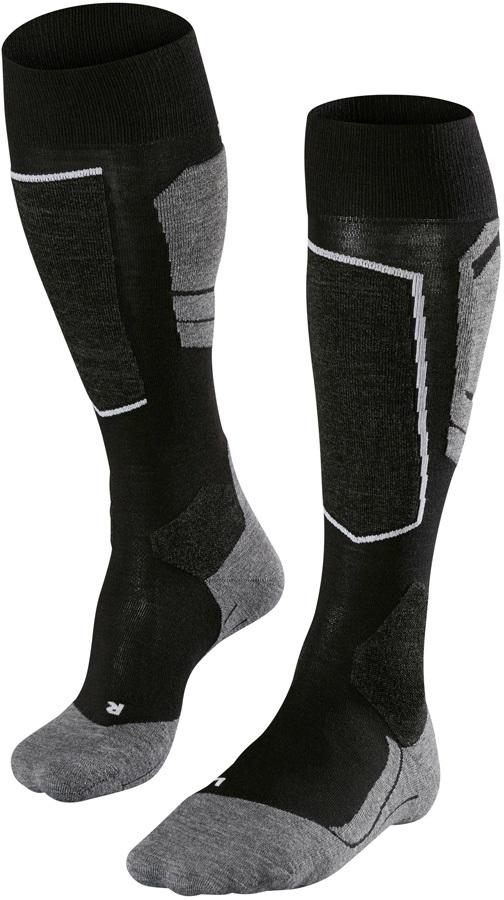 Falke SK4 Merino Wool Ski Socks, UK 9.5-10.5 Black-Mix