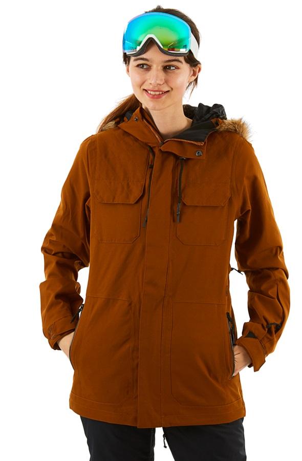 Washed Blue Volcom Womens Shadow Insulated Snow Jacket Medium